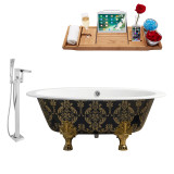 Streamline 65 Faucet and Cast Iron Tub Set | RH5440GLD