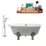 Streamline 65 Faucet and Cast Iron Tub Set | RH5442CH
