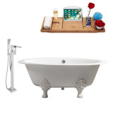 Streamline 65 Faucet and Cast Iron Tub Set | RH5442WH