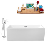 """Streamline 58"""" Freestanding Faucet and Tub Set 