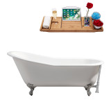 Streamline 61 Cast Iron Soaking Clawfoot Tub With External Drain | R5221