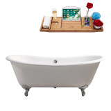 Streamline 71 Cast Iron Soaking Clawfoot Tub With External Drain | R5240
