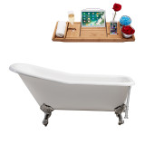 Streamline 66 Cast Iron Soaking Clawfoot Tub With External Drain | R5281