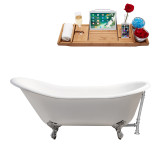 Streamline 67 Cast Iron Soaking Clawfoot Tub With External Drain | R5420