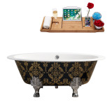 Streamline 65 Cast Iron Soaking Clawfoot Tub With External Drain | R5440