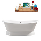 Streamline 71 Cast Iron Soaking Freestanding Tub With External Drain | R5300
