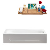 Streamline 60 Cast Iron Soaking Alcove Tub with Internal Drain | R5480