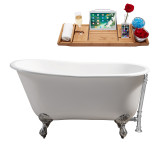 Streamline 53 Cast Iron Soaking Clawfoot Tub With External Drain | R5460