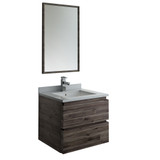 "Fresca Formosa 24"" Wall Hung Modern Bathroom Vanity w/ Mirror 