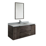 "Fresca Formosa 48"" Wall Hung Modern Bathroom Vanity w/ Mirror 