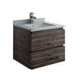 "Fresca Formosa 24"" Wall Hung Modern Bathroom Cabinet w/ Top & Sink 