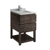 "Fresca Formosa 24"" Floor Standing Open Bottom Modern Bathroom Cabinet w/ Top & Sink 
