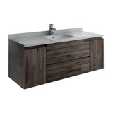 "Fresca Formosa 54"" Wall Hung Modern Bathroom Cabinet w/ Top & Sink 