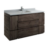 "Fresca Formosa 60"" Floor Standing Single Sink Modern Bathroom Cabinet w/ Top & Sink 