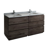"Fresca Formosa 72"" Floor Standing Double Sink Modern Bathroom Cabinet w/ Top & Sinks 