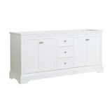 Fresca Windsor 72 Matte White Traditional Double Sink Bathroom Cabinet | FCB2472WHM