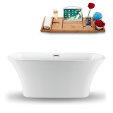 side view of the 59 inch oval soaking tub