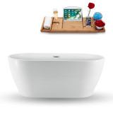 59 inch freestanding tub in white side view