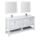 72 inch white traditional vanity