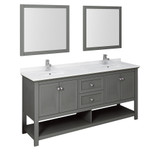 72 inch traditional vanity in gray