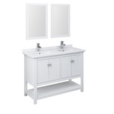 white double vanity 48 inches by fresca