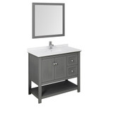 Single Sink Vanity in Gray 40 inches