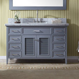 "55"" Single Sink Vanity Set In Grey"