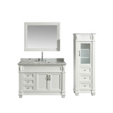 Freestanding Vanity With Linen Cabinet