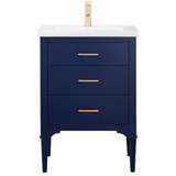 "Design Element Mason 24"" Blue Transitional Single Sink Vanity"