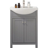 "Design Element Marian 24"" Gray Transitional Single Sink Vanity"