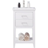 "Design Element Cara 20"" White Modern Single Sink Vanity"