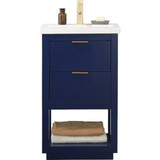 "Design Element Klein 20"" Blue Modern Single Sink Vanity"