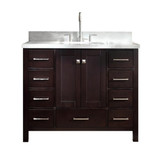 "Ariel Cambridge  43"" Modern Espresso Single Oval Sink Vanity"