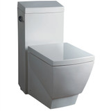 FTL2336 | Fresca Apus One-Piece Square Toilet w/ Soft Close Seat