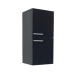 FST8091BW | Fresca Black Bathroom Linen Side Cabinet w/ 2 Storage Areas