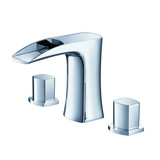 FFT3076CH | Fresca Fortore Widespread Mount Bathroom Vanity Faucet - Chrome