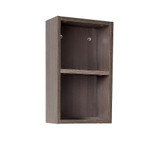 FST8092GO | Fresca Gray Oak Bathroom Linen Side Cabinet w/ 2 Open Storage Areas