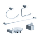 FAC0400 | Fresca Ottimo 5-Piece Bathroom Accessory Set - Chrome