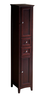 FST2060MH | Fresca Oxford Mahogany Tall Bathroom Linen Cabinet