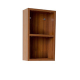 FST8092TK | Fresca Teak Bathroom Linen Side Cabinet w/ 2 Open Storage Areas