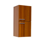 FST8091TK | Fresca Teak Bathroom Linen Side Cabinet w/ 2 Storage Areas