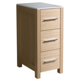 "FST6212LO | Fresca Torino 12"" Light Oak Bathroom Linen Side Cabinet"