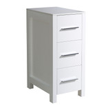 "FST6212WH | Fresca Torino 12"" White Bathroom Linen Side Cabinet"