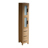 FST6260LO | Fresca Torino Light Oak Tall Bathroom Linen Side Cabinet