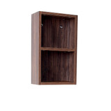 FST8092GW | Fresca Walnut Bathroom Linen Side Cabinet w/ 2 Open Storage Areas