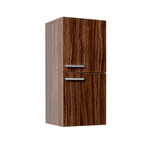 FST8091GW | Fresca Walnut Bathroom Linen Side Cabinet w/ 2 Storage Areas