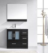 Virtu USA Zola 36 Single Bathroom Vanity Set in Espresso w/ Ceramic Counter-Top