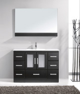"Virtu USA Zola 48"" Single Bathroom Vanity Cabinet Set in Espresso w/ Ceramic Counter-Top"