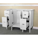 Bellaterra Home 7614-WH | 44 in Single Sink Vanity-Wood-white cabinet only