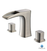 FFT3076BN | Fresca Fortore Widespread Mount Bathroom Vanity Faucet - Brushed Nickel